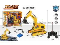 热卖遥控履带特技灯光工程车玩具 遥控工程车遥控玩具 CJ-0959339
