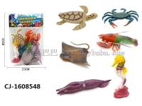 跨境仿真海洋动物模型玩具实心海底生物海洋动物套装