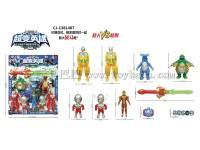 机器人超人系列变形玩具变身发光