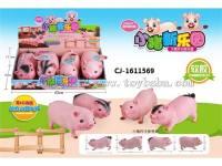 软胶动物模型系列宝宝益智仿真卡通小猪带IC功能仿真猪叫声搪塑猪搪胶猪