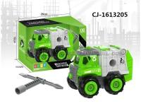 DIY环卫车 自装车 DIY玩具 自装环卫车 工程车