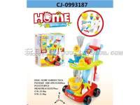 园艺清洁推车组合套装 洁具套装 过家家玩具