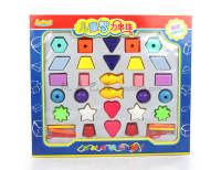 儿童智力串珠 大颗粒塑料串珠玩具女孩DIY手工儿童益智力开发1-3岁