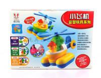智力拼装小飞机  自装玩具 DIY游戏益智