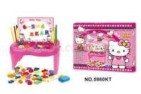 5980KT磁力玩具KT猫玩具冰雪玩具HELLO KITTY玩具磁性智力写字板