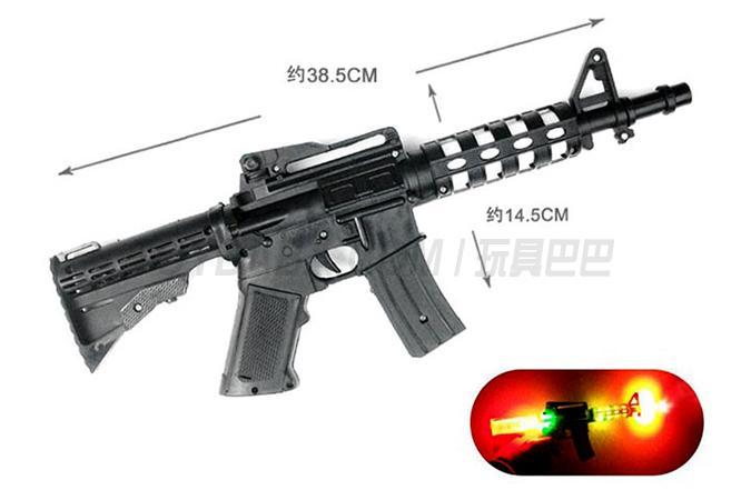 86-115C 电动语音冲锋枪(七彩灯光+音乐)