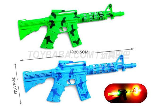 86-115B 电动语音冲锋枪带七彩灯光音乐(两色混装)