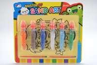 8张沙画6瓶沙儿童汽车沙画套装手工DIY制作动手益智玩具