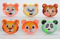 9格动物头拼图 智力拼图 6款4色混装