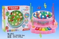 海底世界音乐钓鱼玩具 打地鼠 两色混装