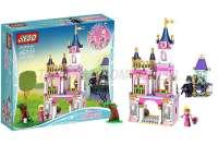 JIEGO杰高JIEGO女孩积木LEGO alike公主城堡积木迪士尼女孩系列睡美人公主的童话城堡386PCS配件