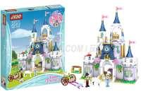 jJIEGO杰高积木JG312女孩系列LEGO alike bricks灰姑娘的梦幻城堡656PCS