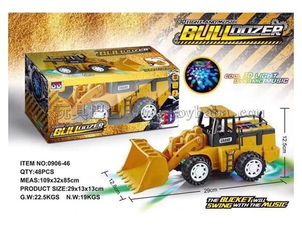挖掘机 儿童益智玩具电动车