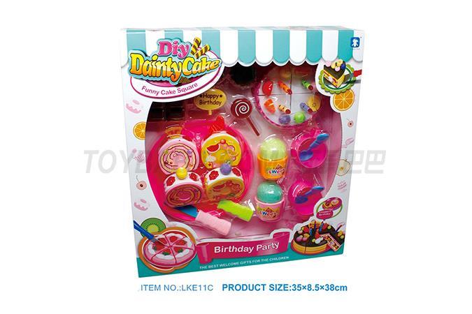 儿童过家家 趣味益智游戏 生日礼物 仿真趣味 蛋糕套装