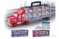 货柜运输车 配6只小车 儿童玩具车系列
