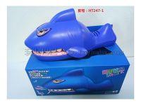 中文 (带音乐)大鲨鱼拔牙 整蛊玩具电动动物