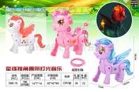 牵线独角兽电动动物玩具 闪光玩具