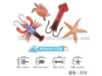龙虾海洋生物玩具一模4只