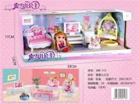 蜜雪儿公主电视柜 过家家玩具