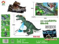 二通遥控霸王龙(投影、生蛋、七彩灯、仿真叫声)恐龙动物模型玩具 电动玩具
