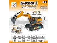 12通合金遥控特技工程车(挖掘机、配带3.7V充电电池和USB充电线)