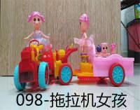 拖拉机女孩电动玩具灯笼
