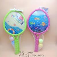 大桃心形沙滩小鱼两款混装球拍 体育玩具