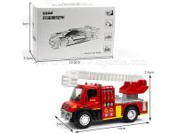 大合金消防(带声光)3款 合金车玩具