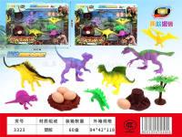 软胶恐龙套装 恐龙动物模型玩具