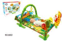 森林地毯(音乐带灯光) 婴儿地毯 配摇铃和毛绒
