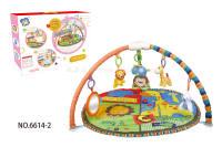 卡通音乐地毯(带音乐) 婴儿地毯 配摇铃和毛绒