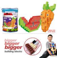 西瓜+萝卜大颗粒积木 益智积木玩具(158PCS)