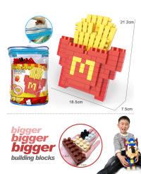 麦当劳薯条大颗粒积木 益智积木玩具(155PCS)有视频