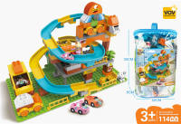 城市轨道兼容乐高大颗粒积木 益智积木玩具(114PCS)