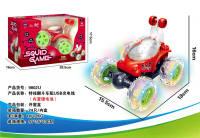 特技翻斗车配USB充电线 鱿鱼游戏遥控车玩具