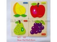 水果拼图(四款混装)