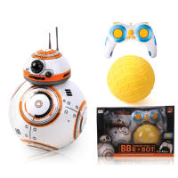星球之战BB8原力智能遥控水陆版机器人玩具跳舞旋转带灯光音乐(包电)