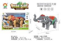 电动大象 电动玩具(带音乐 、多处七 彩灯)