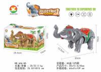 电动大象 电动玩具(仿真叫声、 多处七彩灯)