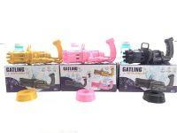 金色和粉色加特林电动泡泡枪