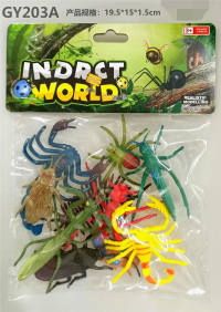 10只PVC喷漆昆虫 动物模型玩具