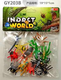 12只PVC喷漆带翅膀昆虫 动物模型玩具