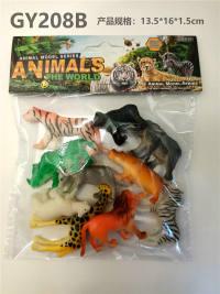 10只PVC喷漆野生动物 动物模型玩具