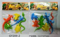 6只PVC实色爬行动物 动物模型玩具