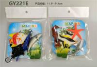 4只PVC喷漆海洋动物套装 动物模型玩具