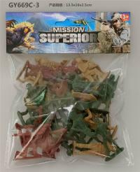 迷你军事队 军事模型玩具