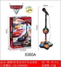 欣乐儿超炫5灯麦克风汽车总动员玩具
