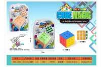 欣乐儿5.7+3.5CM实色三阶魔方玩具