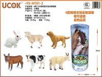 12款41cm搪胶农场动物桶装