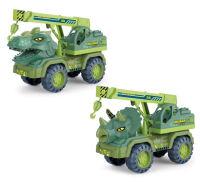 儿童滑行玩具恐龙运输车沙滩仿真挖掘机起重机钩机翻斗车玩具模型